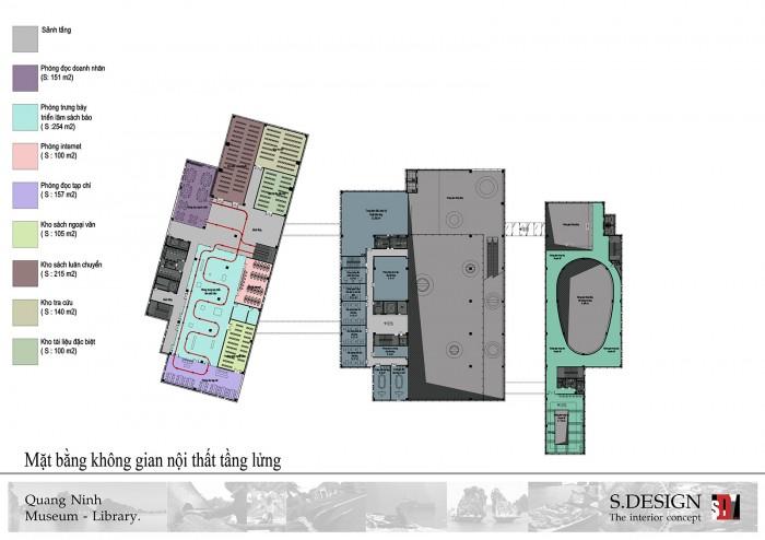 Mặt bằng không gian nội thất tầng lửng