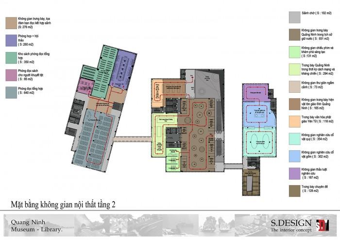Mặt bằng không gian nội thất tầng 2