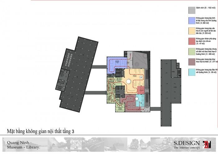 Mặt bằng không gian nội thất tầng 3