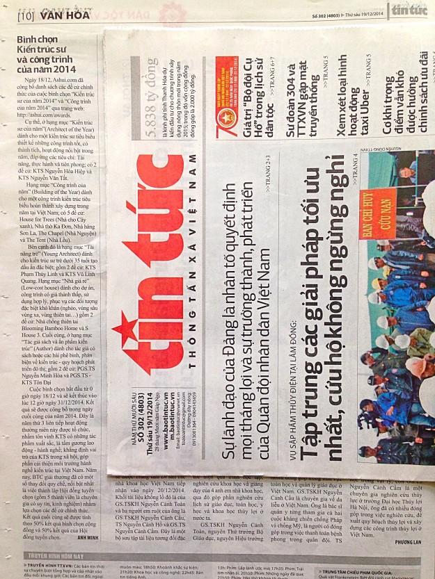 Báo Tin tức (TTXVN) 19/12/2014