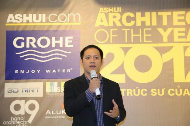 """KTS Võ Cao Thắng (giải """"Kiến trúc sư trẻ triển vọng"""") chia sẻ.."""
