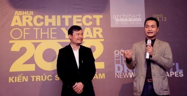 """Giới thiệu KTS Võ Trọng Nghĩa (giải """"Kiến trúc sư của năm 2012″) trình bày những sáng tác và chia sẻ kinh nghiệm hành nghề kiến trúc.."""