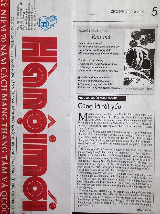 Hà Nội Mới (16/08/2015)