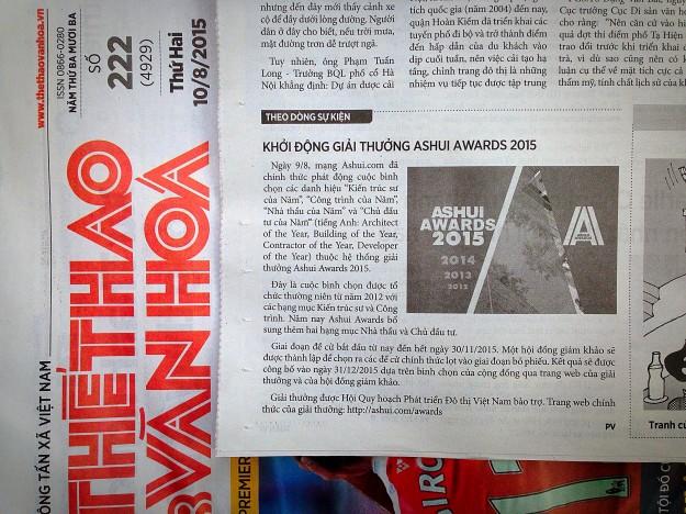 Báo Thể thao & Văn hóa (10/08/2015)