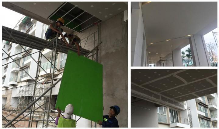 Ứng dụng làm trần ban công Glass-Mat tại Quận 2, Tp. Hồ Chí Minh. Quy mô 4.000 m2