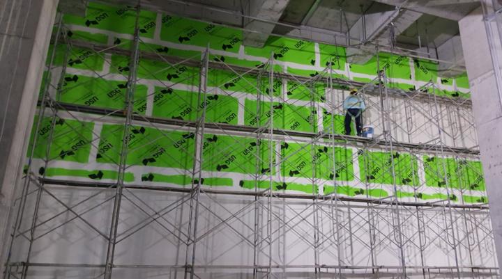 Tấm Glass-Mat giải quyết bài toán ẩm ướt tại khu vực tường ngoài và vách ngăn nhà vệ sinh thuộc siêu dự án HOIANA. Quy mô 40.000 m2