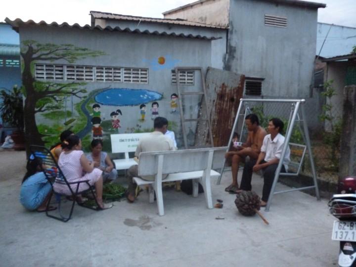 Hình ảnh sân sinh hoạt cộng đồng của khu