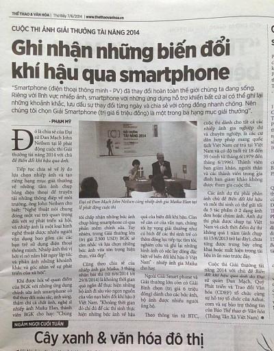 Báo Thể thao & Văn hóa 07/06/2014