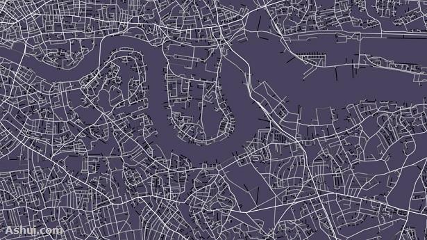 Bản đồ TP London mang tính biểu tượng cho Lễ khai mạc Olympic 2012 của Space Syntax