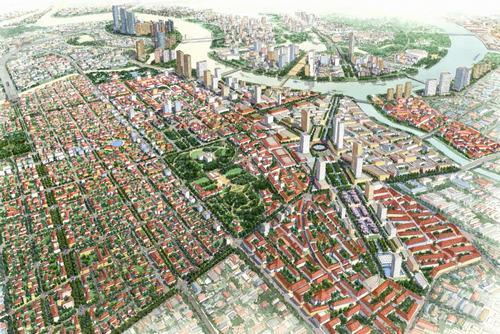 Tầm nhìn thiết kế đô thị và Thể chế hóa quy hoạch Khu trung tâm hiện hữu mở rộng TPHCM